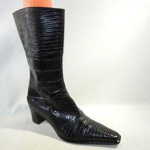 Via Spiga Size 6.5 Black Boots Shoes For Women